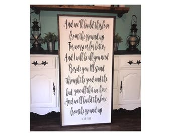Custom Wood Sign,  Personalize,  Wedding Lyrics, Vows,  Favorite Quote,  Love story, Wedding Gift, Anniversary Gift, Wall Decor, 4'x2'