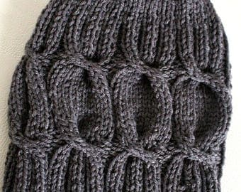 Grey Hat with cables