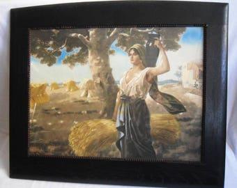 Rudolf Eichstaedt (April 20, 1857 in Berlin - + 1924) - Gouache - Italian Peasant Woman and Landscape - Around 1895