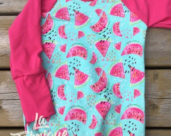 Sweatshirt, Melons, Rose, Fuschia, summer, to order, newborn to 12 years, comfortable, Style, rolling, soft