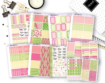 1014 // A La Carte Individual Collection Items // Watermelon Collection // Planner Stickers