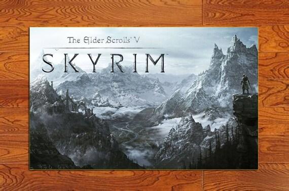 es786 the elder scrolls v skyrim game poster home decor poster