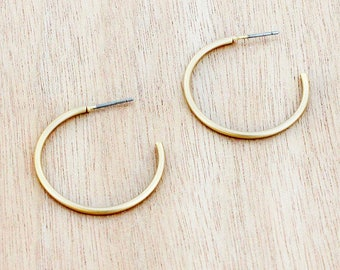 Goldtone Hoop Earrings | Timeless hoops are perfect for any outfit!