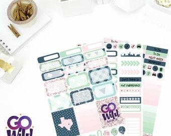 Go Wild: Austin Weekly Kit Stickers! Perfect for your Erin Condren Life Planner, calendar, Paper Plum, Filofax!
