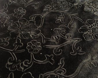 Beautiful Green Floral Embossed Fabric Des.3 Sold By the Yard