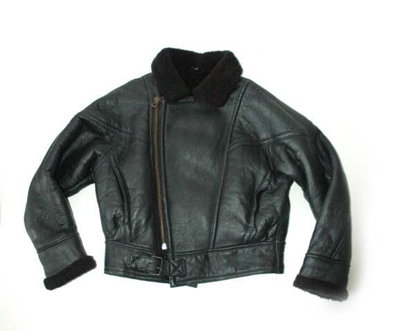 80s Ladies leather jacket
