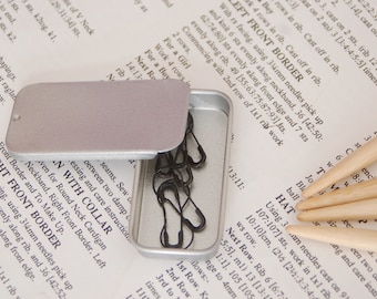 Stitch marker storage tin, small notions tin, storage tin,