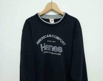 20% OFF Vintage Hanes Sweatshirt/Hanes Blue Sweater/Hanes Sportwear/Hanes Shirt