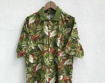 20% OFF Vintage Hawaiian Floral Tropical Shirt / Hawaiian Clothing / Hawaii Shirt / Armpit 21
