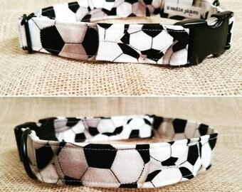 Soccer Balls Buckle Collar - Size Large