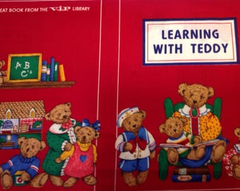 Learning With Teddy cloth book cut and sew fabric panel