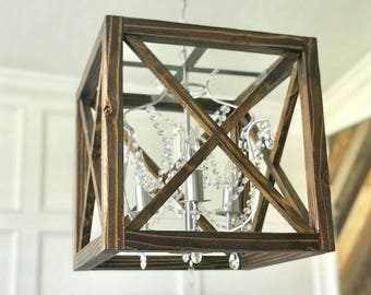 Crystal Cube Chandelier