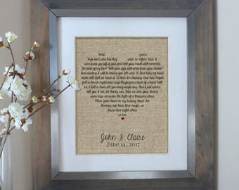 Wedding Song Lyric Art - Anniversary Gift - First Dance Song - Song Lyrics - First Dance Lyrics - Wedding Gift - Custom Song Lyrics