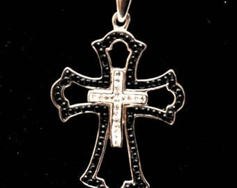 Christian Cross Pendant With Colored Gemstones 2#