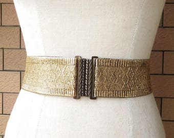 2 inch Black/Gold belt,Elastic belt,Stretch Belt,Cinch BeltWaist belt, Elastic waist belt,Waist belt -(JF)000/