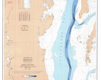 Chesapeake Bay Map - Annapolis - PLATE 4 1927