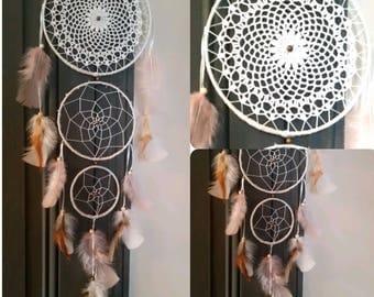 -DreamCatcher boho doily with 3 circles