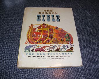 The Golden Bible; the Old Testament  a Giant Golden Book Bible Stories Illustrated by Feodor Rojankovsky HC Vintage