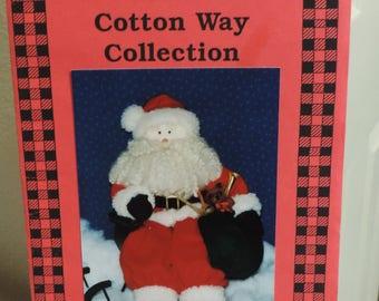 Vintage Santa Claus Pattern, The Cotton Way Collection 1990