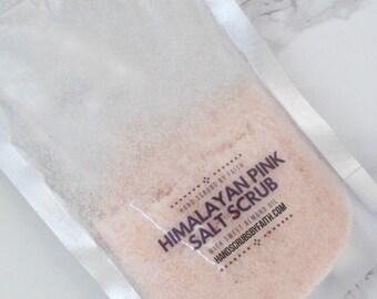Salt Scrub, Pink Salt, Sugar Scrub, Vegan Detox Scrub, Essential Oil, Vegan Hand Care