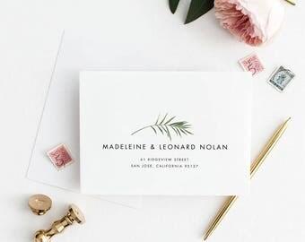 Envelope Addressing Service, Tropical Wedding Invitation Envelope Address PDF Customization , RSVP Envelope PDF (Item code: P1026)