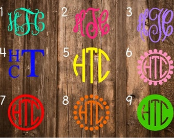 SALE** Monogram Decal/Monogram Sticker/Monogram Car Decal/Vinyl Decal/Vinyl Monogram/Yeti Decal/Car Decal/Laptop Decal/Yeti Cup Decal/Yeti