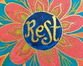 Rest - Blank Note Card, 4 x 6 inches