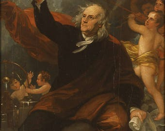 Poster, Many Sizes Available; Benjamin Franklin Drawing Electricity From The Sky Benjamin West