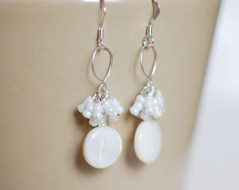 Pearl cloud - 925 Sterling Silver earrings