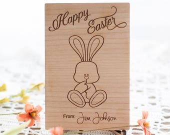Wooden Easter Postcard-Personalized gift-Wooden Letter-Gift For Him- Gift for Her-Wood Postcard - By Urban Forest Woodworking