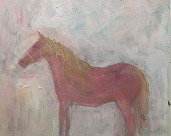 Loved Pony . Acrylic on Panel . 8 inches x 8 inches