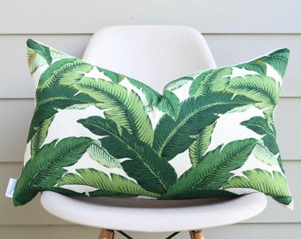 "16"" x 26"" Banana Leaf Lumbar Pillow Cover - Tommy Bahama Fabric, COVER ONLY"