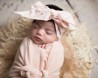 FANCY MINGO Gorgeous Wrap- headwrap; fabric head wrap; flamingo head wrap; boho; newborn headband; baby headband; toddler headband