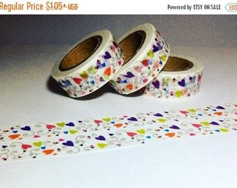 30% OFF ENTIRE STORE Hearts on a Vine, Washi Tape, Full Rolls and Sample Lengths