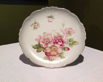 Vintage Kalk Porcelain Wall Plate handpainted signed Renee