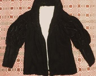1930s Short Opera Coat - Silk Velvet