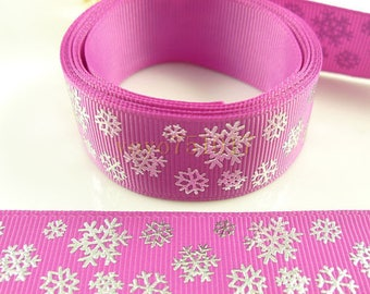 Snowflake Ribbon (1 m) 22mm