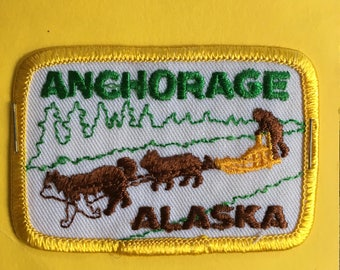 Anchorage Alaska Vintage Souvenir Travel Patch from IAAC in Seattle WA