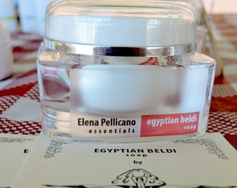 Egyptian Beldi Soap All Natural with Certified Organic Ingredients by Elena Pellicano Essentials 50 grams (1.7 oz)