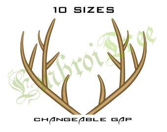 Deer Antlers Embroidery Design Horns Embroidery Antler Deer Machine Embroidery Monogram Frame Horn Embroidery Design Antlers File Download