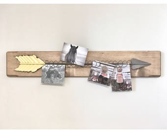 Rustic Wooden Arrow Photo Picture Frames, Rustic Frame, Arrow wood Picture Frame, Wooden Frame, Rustic Home Decor, Wedding Frame, Farmhouse