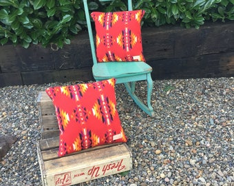 Siuslaw pillow in Pendleton® wool and canvas by Meant Mfg.