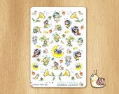 Baby Fairies Stickers Sheet For Your Life Planners, Agenda, Scrapbooking or Other Life Projects - Handmade Stickers!