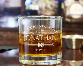 Personalized Rocks Glasses - Groomsman Gift