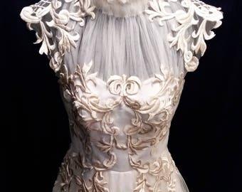 Victorian Inspired Wedding Gown