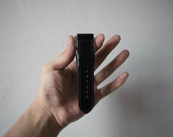 Shell Cordovan 18mm 20mm 22mm 24mm  Panerai Watch Strap - BLACK