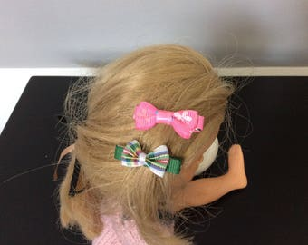 Set of 2 clips clip with bows