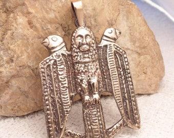 15%!!HOT JULY SALE!! Bird Soul. Slavs. Bronze pendant. Bronze neckless. Rustica. Slavic talisman. Slavic ethnics. Bird. The ancient image...