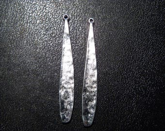 Long 2 pendants for jewelry or earrings