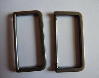 2 rings brides bags gray gun metal 4.8 cm x 2.3 cm ties